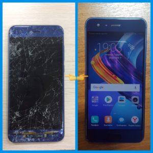 Ремонт телефона Huawei P9 - переехали машиной